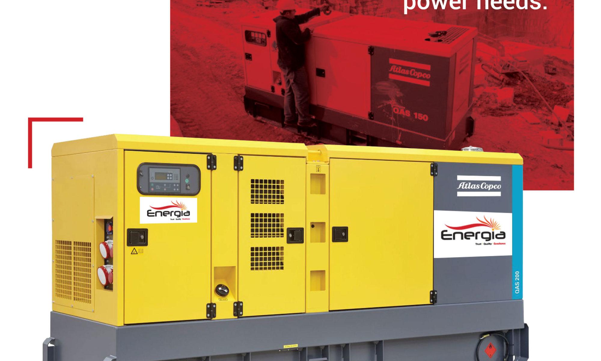 QAS range, mobile generator rental